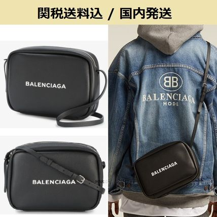 BALENCIAGA Messenger & Shoulder Bags Unisex Calfskin Plain Messenger & Shoulder Bags