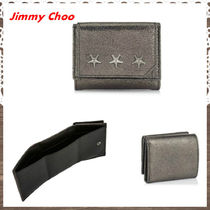 Jimmy Choo Star Unisex Studded Street Style Plain Leather