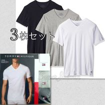 Tommy Hilfiger Street Style V-Neck Cotton Short Sleeves V-Neck T-Shirts