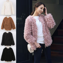 Faux Fur Plain Medium Home Party Ideas MA-1 Bomber Jackets