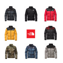 THE NORTH FACE Short Camouflage Fur Plain Down Jackets