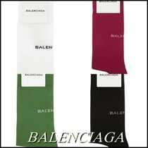 BALENCIAGA Unisex Wool Plain Socks & Tights