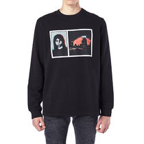 GIVENCHY Pullovers U-Neck Long Sleeves Cotton Sweatshirts