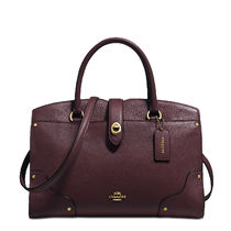 Coach MERCER Satchel 30 Bag (Oxblood/Chalk/Cloud Blue/Aubergene)