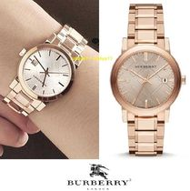 Burberry Casual Style Round Quartz Watches Stainless Analog Watches