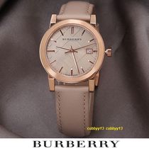 Burberry Casual Style Street Style Leather Round Quartz Watches