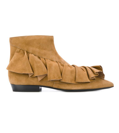 Leather Elegant Style Ankle & Booties Boots