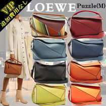 LOEWE PUZZLE Unisex 3WAY Plain Leather Bags