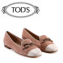 TOD'S Platform Suede Elegant Style Lace-Up Shoes