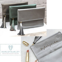 HURLEY BURLEY Plain Leather Clutches