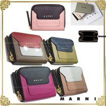MARNI Bi-color Leather Coin Purses