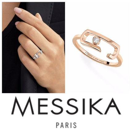 With Jewels 14K Gold Elegant Style Rings