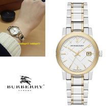 Burberry Casual Style Street Style Round Quartz Watches Stainless