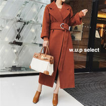 Casual Style Plain Long Wrap Coats