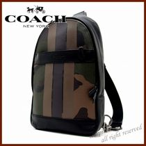Coach Camouflage Street Style Bi-color Leather