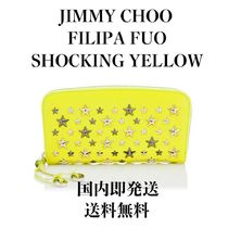Jimmy Choo Star Studded Leather Long Wallets