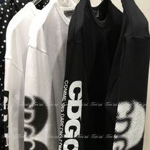 COMME des GARCONS Crew Neck Long Sleeves Cotton Logos on the Sleeves