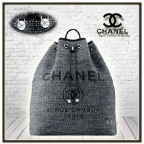 CHANEL DEAUVILLE Unisex Cambus A4 2WAY Plain Elegant Style Backpacks