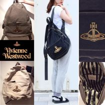 Vivienne Westwood Casual Style Cambus Plain Backpacks