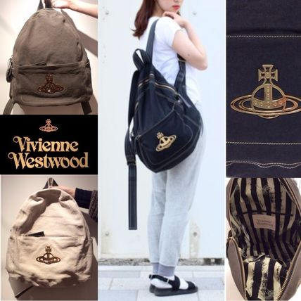 Casual Style Cambus Plain Backpacks