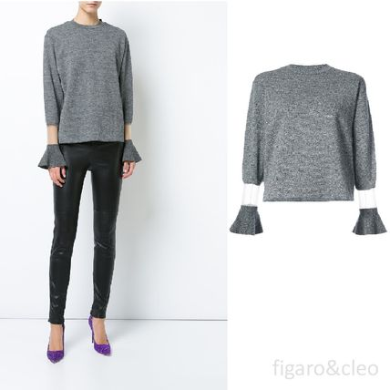 Short Wool Blended Fabrics Long Sleeves Elegant Style