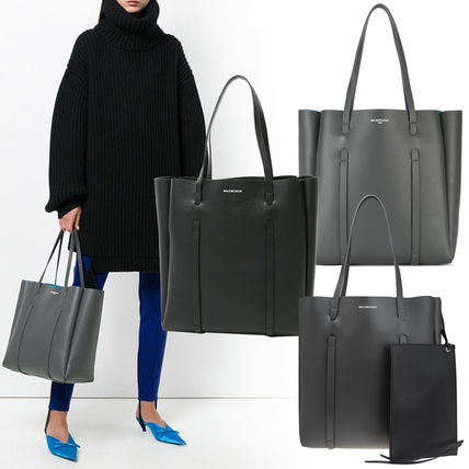 7cff1db436dc BALENCIAGA EVERYDAY TOTE 2019 SS Calfskin S (Black Grey) (475199 ...