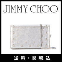 Jimmy Choo Studded 2WAY Plain Leather Party Style Shoulder Bags