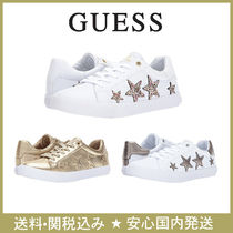 Guess Star Round Toe Faux Fur Plain Low-Top Sneakers