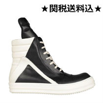 RICK OWENS Street Style Bi-color Leather Sneakers