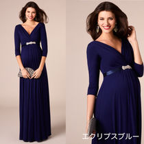 TIFFANY ROSE Maternity Dresses WILLOW GOWN LONG (ECLIPSE BLUE)