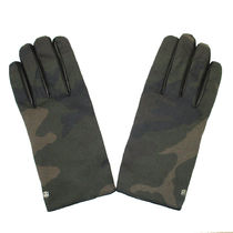 Hydrogen Camouflage Leather Leather & Faux Leather Gloves