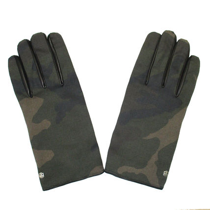 Camouflage Leather Leather & Faux Leather Gloves