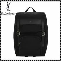 Saint Laurent DOWNTOWN Nylon Plain Backpacks