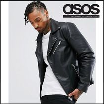 ASOS Short Plain Leather Biker Jackets