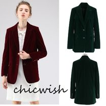 Chicwish Velvet Plain Medium Jackets
