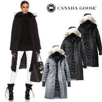 CANADA GOOSE ELROSE Fur Plain Long Down Jackets
