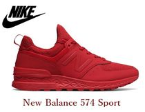 New Balance 574 Suede Street Style Plain Sneakers