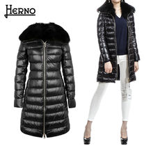 HERNO Plain Long Office Style Down Jackets