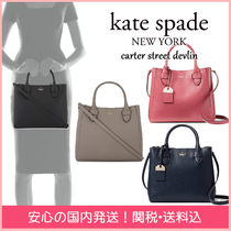 kate spade new york 2WAY Plain Leather Elegant Style Handbags