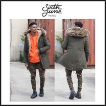 Sixth June Faux Fur Plain Long Khaki Parkas