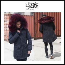 Sixth June Faux Fur Plain Long Parkas