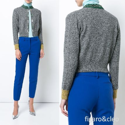 Short Wool Long Sleeves Elegant Style Cropped
