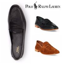 Ralph Lauren Wedge Plain Toe Plain Leather Elegant Style