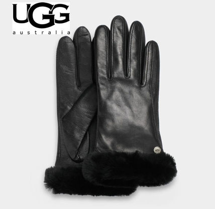 Womens Leather & Faux Leather Gloves
