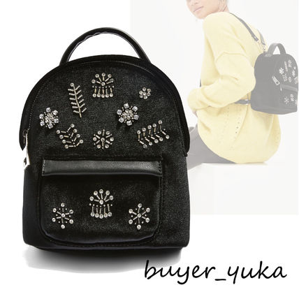 Flower Patterns With Jewels Elegant Style Backpacks