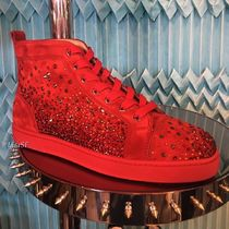Christian Louboutin Star Straight Tip Suede Plain With Jewels Sneakers