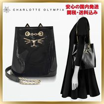 Charlotte Olympia Casual Style 2WAY Chain Plain Other Animal Patterns