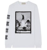 MAISON KITSUNE Crew Neck Long Sleeves Cotton Long Sleeve T-Shirts