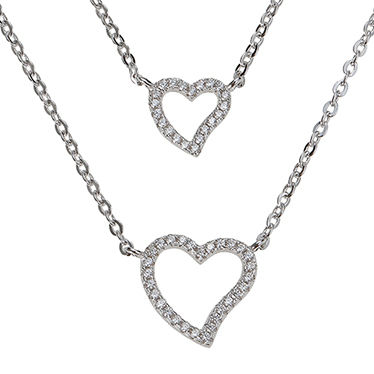 Silver With Jewels Elegant Style Necklaces & Pendants