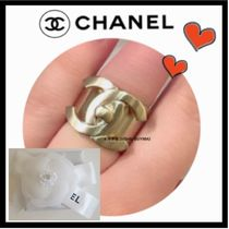 CHANEL ICON Costume Jewelry Casual Style Unisex Rings